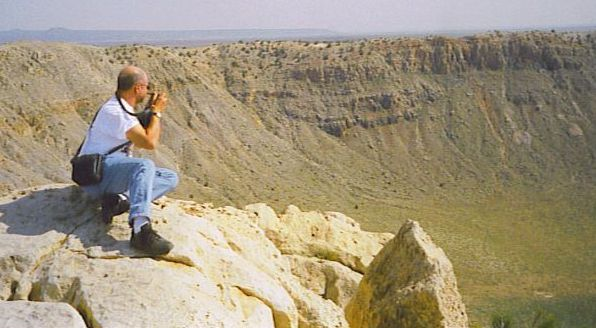 Sal at the crater